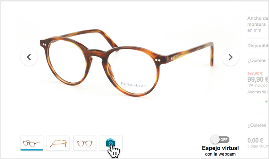 Pruébate tus gafas on-line - Mister Spex 8919a9e51a1a