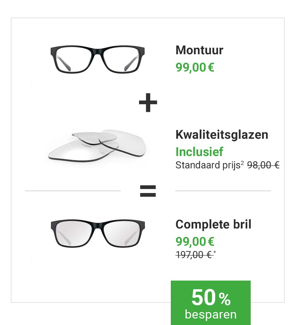 Complete bril inclusief kwaliteitsglazen