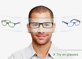 Virtual fitting glasses