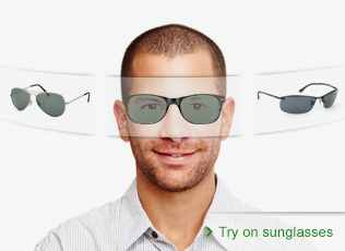 Virtual fitting sunglasses