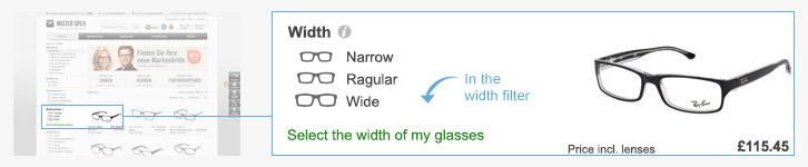 tamaño gafas ray ban justin