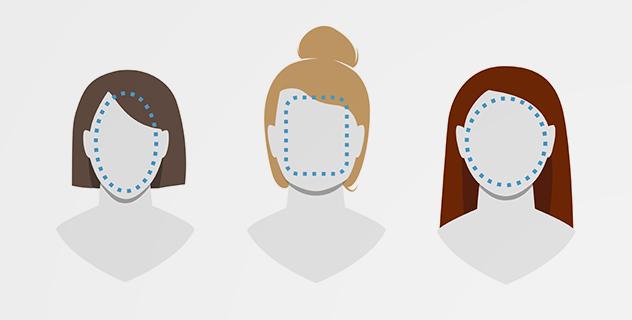 Zum Gesichtsformen-Guide