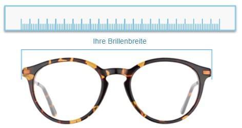 Brillenbreite mit Lineal messen