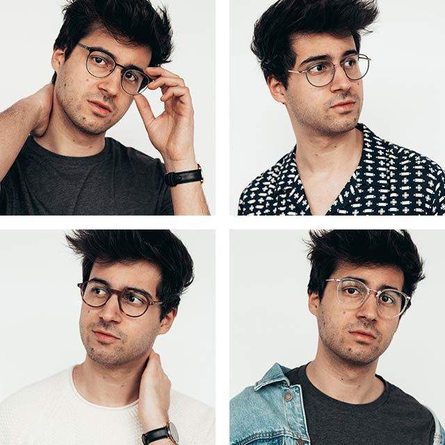 Galen i glasögon - Dimi