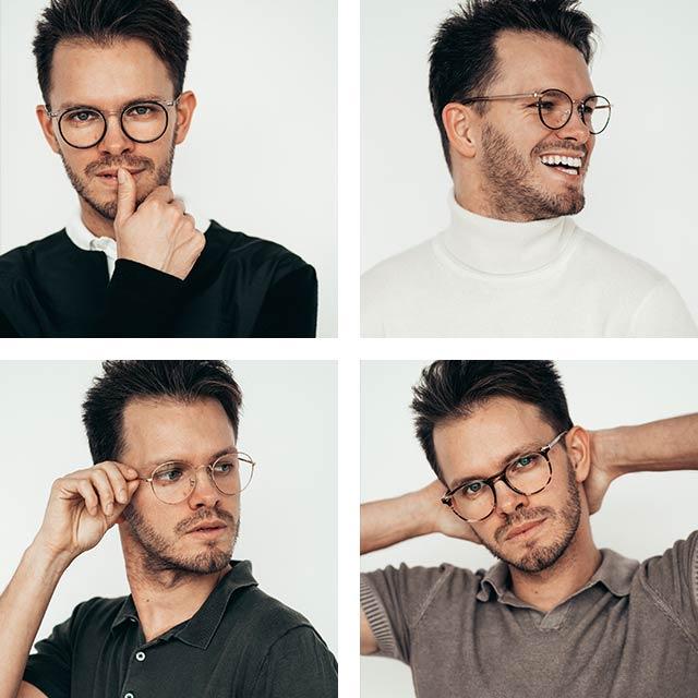 Galen i glasögon - Greg