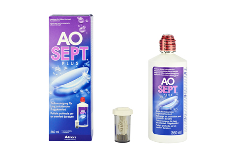 Aosept Plus  AoSept Plus 360 ml framifrån