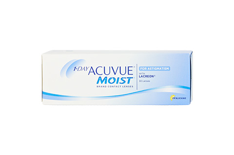 Acuvue 1-Day Acuvue Moist for Astigmatism front view