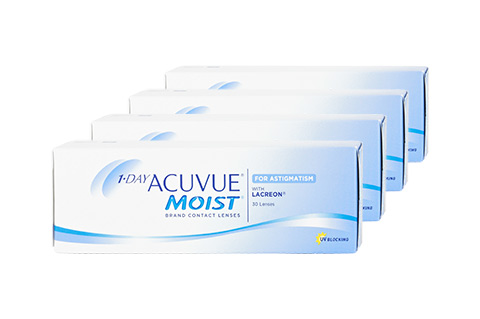 Stockists of Acuvue 1-Day Acuvue Moist for Astigmatism 4