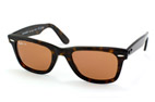 Ray-Ban Wayfarer RB 2140 6063 Brown / Brown perspective view thumbnail