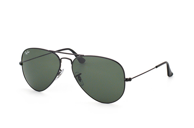 Ray Ban Aviators Black And Grey