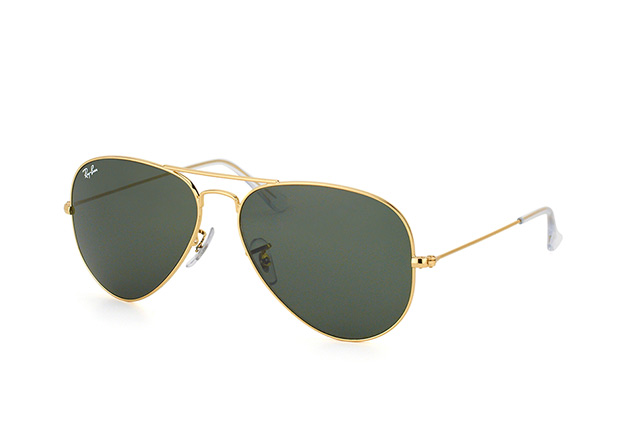 ray ban aviator blau gold