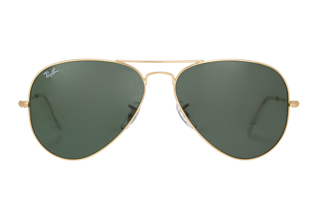 ray ban aviator gold grün 58