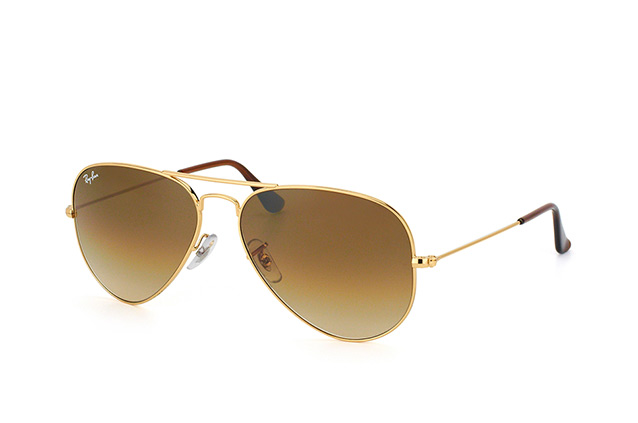 Ray-Ban Aviator large RB 3025 001/51 vue en perpective