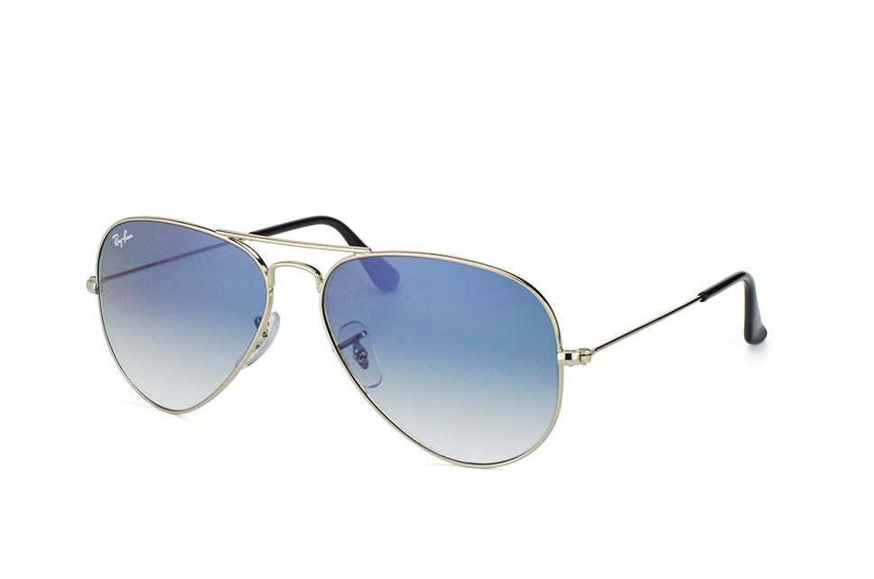 Ray Ban Silver Blue Aviator