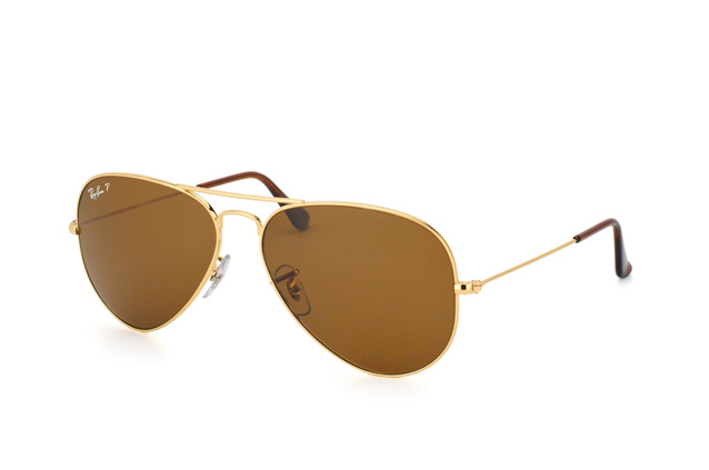 Ray Ban Ray-Ban Sonnenbrille »aviator Large Metal Rb3025«, Goldfarben, 001/57 - Gold/braun