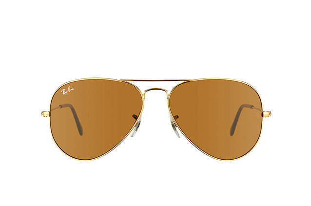 Ray-Ban Aviator large RB 3025 001/33 vue en perpective