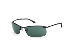 Ray-Ban Top Bar RB 3183 006/71, Sporty Sonnenbrillen, Schwarz
