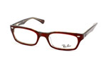 Ray-Ban RX 5150 2034 Rojo perspective view thumbnail