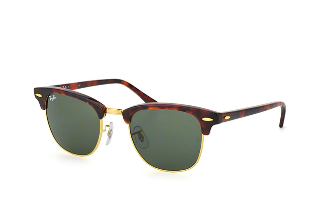 2a8fb11d83b ... Sunglasses  Ray-Ban Clubmaster RB 3016 W0366 small. null perspective  view ...
