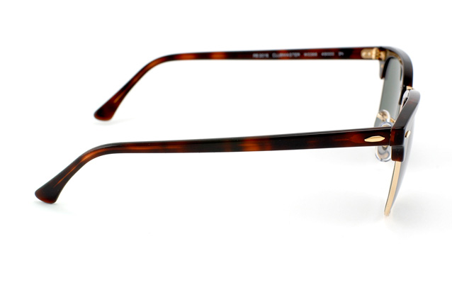Ray-ban Rb3016 W0366 Clubmaster Mock Tortoise / Green Crystal ...