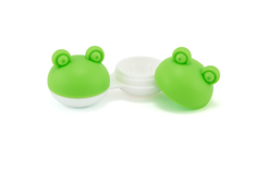 Mister Spex Services Green Contact Lenses Case Frog small