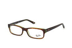 ray-ban-rx-5187-2445-rectangle-brillen-gruen