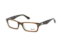 Ray-Ban RX 5206 2445, Rectangle Brillen, Gruen
