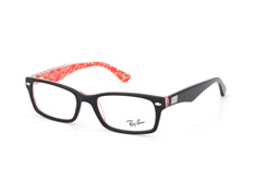 ray-ban-rx-5206-2479-rectangle-brillen-rot