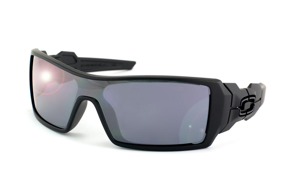 Oakley Herren Sonnenbrille »Oil Rig OO9081«, schwarz, 03-464 - schwarz/schwarz