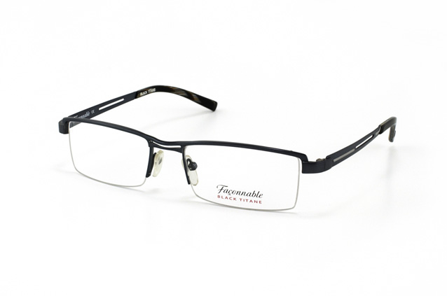 Faconnable Black Titane FT 301 690 vue en perpective ... 9246b2f41d5c