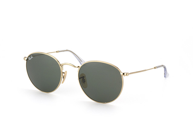 3051e8bfbc5d5 ... Ray-Ban Round Metal RB 3447 001. null perspective view ...