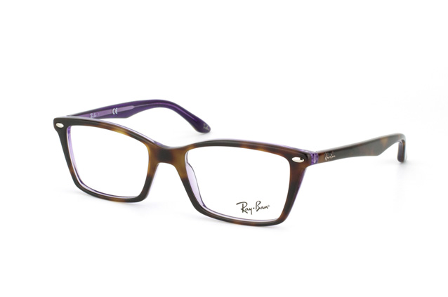ray ban 5241 wayfarer havana womens glasses  ray ban rx 5241 5074 perspective view