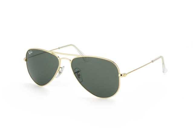 Ray-Ban Junior Aviator Small RB 3044 L0207 vue en perpective ... 1fe883b8a3fc