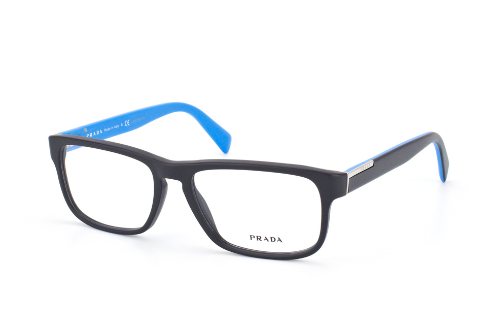 Blue Black Glasses Frames : Brand New Prada Eyeglasses Frames 07P 07PV 1BO BLACK/BLUE ...