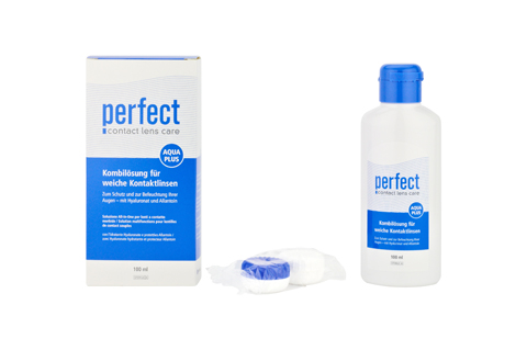 Perfect Aqua Plus Solución total 100ml vista frontal