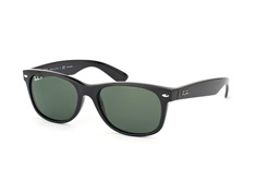 Ray-Ban New Wayfarer polarized RB 2132 901/58 large, Square Sonnenbrillen, Schwarz
