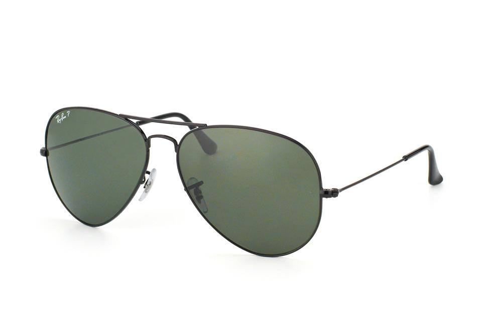 Ray Ban Ray-Ban Sonnenbrille »aviator Large Metal Rb3025«, Schwarz, 002/58 - Schwarz/grün