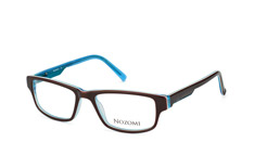 Nozomi NZ 1010 024, Rectangle Brillen, Dunkelbraun