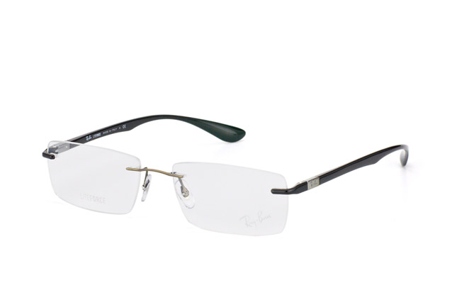 Ray-Ban RX 8724 1000 perspective view