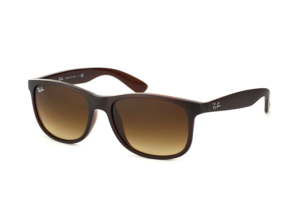 Ray-Ban RB4202 607313 - Andy - zonnebril - Bruin / Bruin Gradint - 55mm