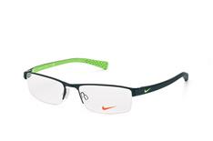 Nike 8095 001, Rectangle Brillen, Schwarz