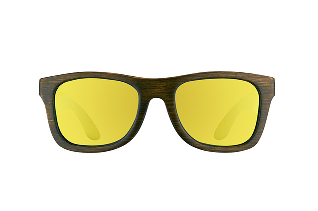 Wood Fellas Jalo Mirror 10499 brown-gold vista en perspectiva