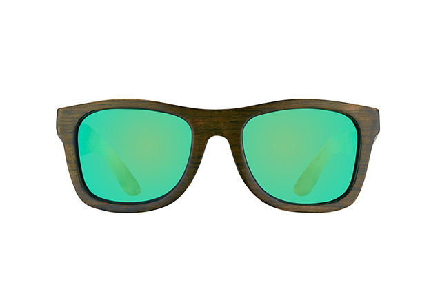 WOOD FELLAS Jalo Mirror 10499 brown-green vista en perspectiva