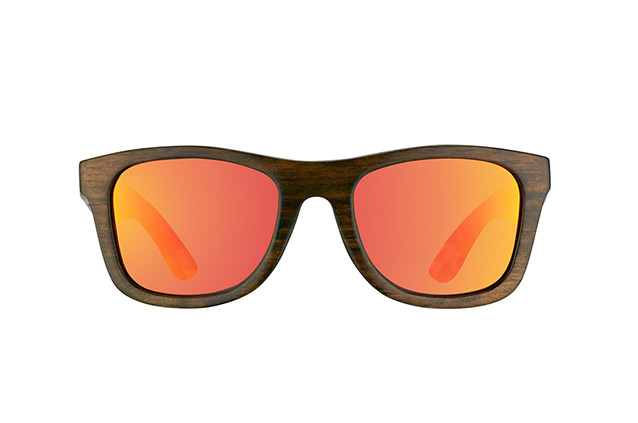 WOOD FELLAS Jalo Mirror 10499 brown-orange vista en perspectiva