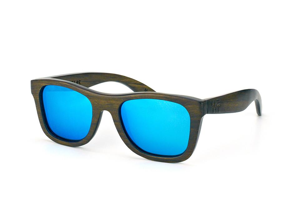 Jalo Mirror 10499 brown-blue, Square Sonnenbrillen, Dunkelbraun
