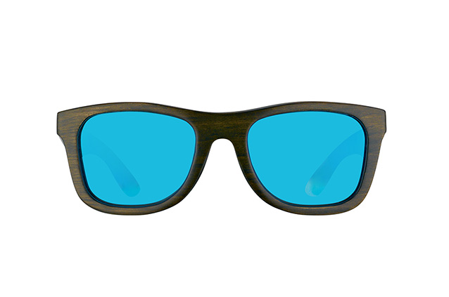 WOOD FELLAS Jalo Mirror 10499 brown-blue vista en perspectiva