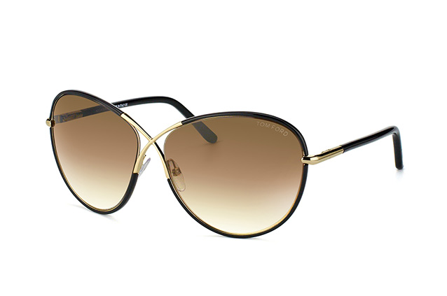 Tom Ford Rosie FT 0344/S 01B perspective view
