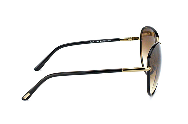 Tom Ford Rosie FT 0344/S 01B Perspektivenansicht