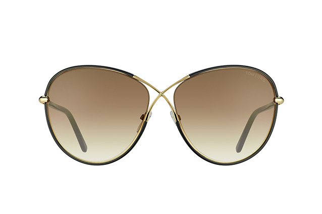 Tom Ford Rosie FT 0344/S 01B vue en perpective