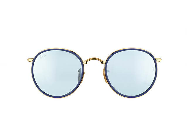 Ray-Ban Round Folding RB 3517 001/30 Perspektivenansicht